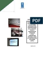 Evaluation des Capacités de la Plateforme Nationale Organisation de la Société Civile à Madagascar (PFNOSCM) et du Consortium National pour la Participation Citoyenne (CNPC), Rapport Final (Mars 2010)