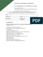 Exercício de Linguagens Formais