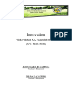 Completion Report for Innovation