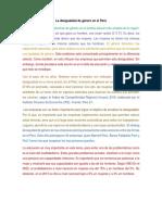 La Desigualdad de Género en El Perú