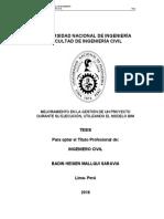 IMPLEMENTACION BIM EN UN PROYECTO DE CONSTRUCCION