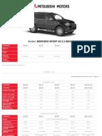 Mitsubishi Motors Ficha Tecnica