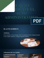 (Ppt) El Acto Jurídico y El Acto Administrativo