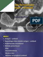 Prinsip Pemeriksaan Antigen - Antibodi