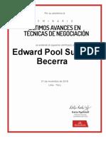 Seminario de Negociacion Edward Pool Suarez Becerra Edward Suarez Statkraft Com Certificado