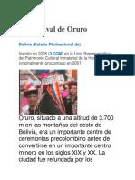 El Carnaval de Oruro