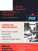 The Legal, Social, And Ethical Issues of Technology in Education Esther Bernardo MA Psy