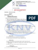 Job Description - RDManager