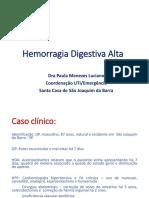 _Hemorragia Digestiva Alta - Dra Paula Menezes Luciano