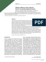 [1479683X - European Journal of Endocrinology] FSHR Gene Polymorphisms Influence Bone Mineral Density and Bone Turnover in Postmenopausal Women