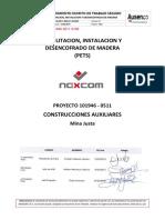 V-101946-0511-0169 Rev2 Status1 - Habilitacion, Instalacion y Desencofrado de Madera
