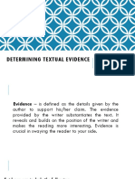 Lesson 11 Determining Textual Evidence
