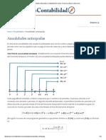 Anualidades Anticipadas _ Contabilidad de Costos, Financiera, Básica y Ejercicios