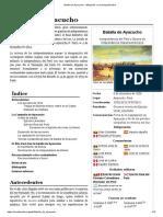 Batalla de Ayacucho - Wikipedia, La Enciclopedia Libre