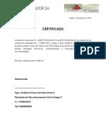 Certificado Javier