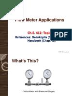 Flowmeter Applications