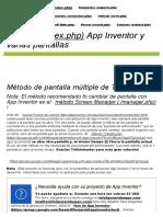 Tutoriales App Inventor y Ejemplos_ Múltiples Pantallas _ Pura Vida Aplicaciones