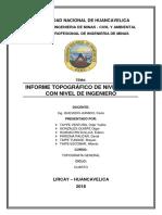 Informe Topografico de Nivelacion