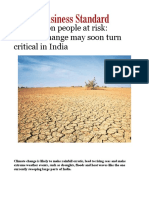 600 Million People at Risk- Climate Change May Soon Turn Critical in India