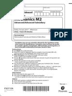 June 2017 (IAL) QP - M2 Edexcel