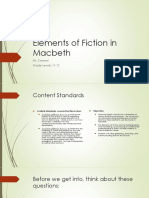 elements of fiction in macbeth