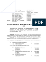 Cabadbaran SP  Resolution No. 2009-65