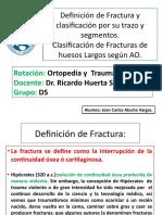 Definición de Fractura y Clasificación AO