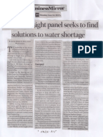 Business Mirror, June 24, 2019, House oversight panel seeks to find solutions to water shortage.pdf