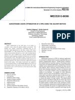 Aerodynamic Shape Optimization of a Pipe Using the Adjoint Method