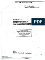BS 4447 1973 the Performance of Prestressing Anchorages for Post Tensioned Construction