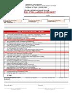 Fire Drill Evaluation Checklist