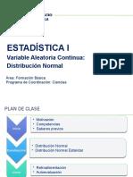 Estadistica I - Semana12 - Distribucion Normal -Expoencial