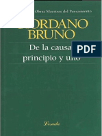 De la causa, principio y uno - Giordano Bruno