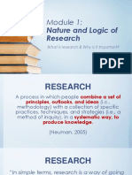 Module1A Nature and Logic of Research 1