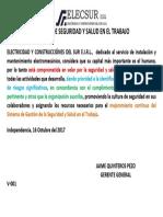 Politica Sst Electrosur (Art.23 Ley 29783)