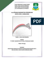 Buku Program Pertandingan BADMINTON Docx