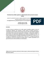 1 Informe de Laboratorio de Quimica Organica I