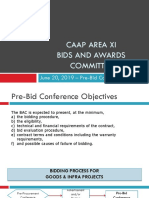 Pre-Bid for INFRA Presentation Template 2019