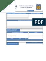 Formato de Control de Calidad de Procesos