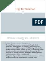 Unit 5 HR Strategy Formulation