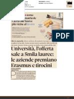 Università, l'offerta sale a 5mila lauree - Il Sole24ore del 24 giugno 2019