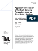 Approach for Selection of Rayleigh Damping Parameters Used for Time History Analysis