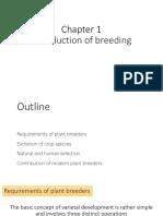 Introduction of breeding