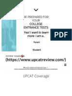 UPCAT Coverage