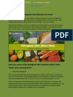 10 Ketogenic Diet Mistakes to Avoid
