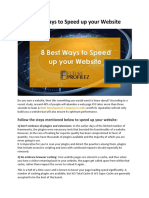 8 Best Ways to Speed Up Your Website