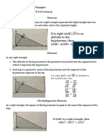 Some Theorems on Right Triangles