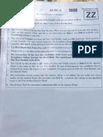 2018 NEET Question Paper Code ZZ