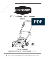 Greenworks 24v 20in. Mower - e.manual