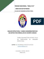 Atahuichi (2019) Analisis Estructural y Diseño Sismorresistente de Una Estructura Irregular de Concreto Armado